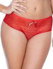 Freya Fancies See-through Brazilian Briefs and Shorts in Hot Chili Red or Black M/12