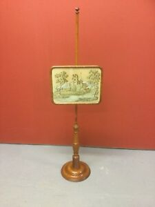 Antique Tapestry Pole Screen / Fire Screen Sn-480