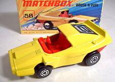 """Matchbox SF Nr.58B Woosh'n'Push gelb """"2"""" neuwertig in Box"""
