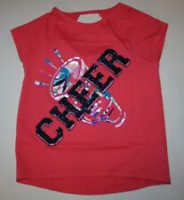 New Gymboree Gymgo Pink Cheer Short Sleeve Glitter Tee Top Size 10-12 Year NWT