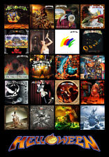 "HELLOWEEN album discography magnet (4.5"" x 3.5"") iron maiden"
