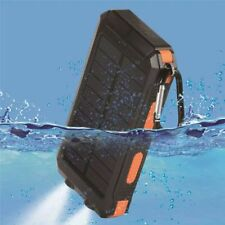300000mAh Waterproof Charger Solar Outdoors Dual USB Solar Battery Power Bank