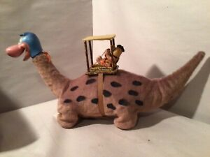 BATTERY OP DINO FLINTSTONE WITH FRED BY MARX TOYS