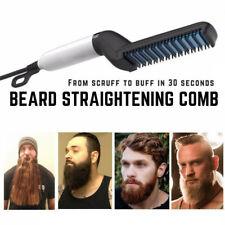 Peine de pelo Styler Hombres rápido calentamiento Eléctrico Rizador de Cabello Barba Plancha cepillo