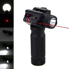 Rifle Vertical Foregrip Grip + 1800 Lumen Flashlight and Red Laser Combo Sight