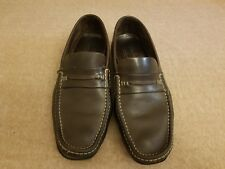 67fa16e5ff5 Paraboot Men Brown Leather Loafers Moc Toe Dress Slip On Mocassin Shoes Size  10