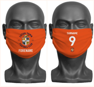Personalised Luton Town FC Face Covering / Mask Official Adult