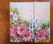 Handmade photo album using Heartfelt Creations Sweet Peony Collection