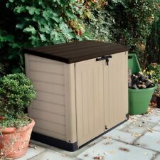 Outdoor Garbage Can Storage Shed Cover Holder Lawn Mower Patio Trash Yard Cans