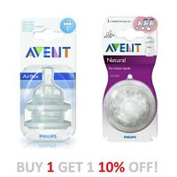 Philips Avent Teat Twin Feeding Teats (2pck) Various Models Classic or Natural