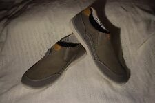 New Men's Size 9 Croft & Barrow Randy Ortholite Grey Loafer Slip on Boat Shoes