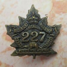 More details for canada,men o' the north' the 227th overseas battalion army/military collar badge