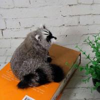 Realistic Raccoon Lifelike Plush Toy Doll Model Cute Furry Animal Decor Gift