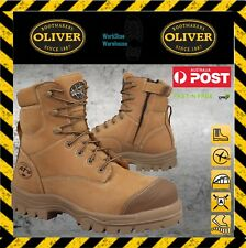 Oliver Work Boots 45632z Zip Side LaceUp Composite Toe Safety Boot + FREE SOCK