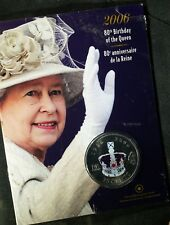 2006 UK 25 cents - QE II 80th Birthday - UNCIRCULATED - original packaging