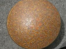 India - Round Brass Container with Flower pattern lid