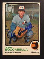 John Boccabella Expos Signed 1973 Topps High #592 Baseball Card Auto Autograph 2