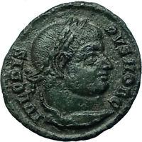 CRISPUS Ancient 321AD Authentic Original Roman Coin of Siscia w WREATH i66550