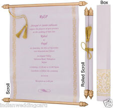 100Pieces Set scroll wedding invitation,wedding scrolls cards, S928