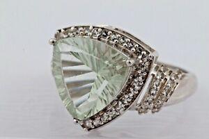 Damenring Ring Silber Stein Glas Zirkonia Größe 53 5,23gr. 925er Silber 1333