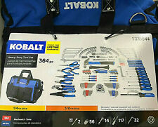 Kobalt 364 Piece Household & Mechanic Tool Set w/ Heavy Duty Tool Bag 10031 NEW