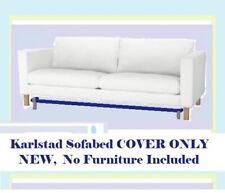 IKEA Karlstad Sofabed Blekinge White Cotton Sleeper Sofa Bed NEW COVER ONLY