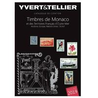 YVERT & TELLIER 2019 STAMPS CATALOG OF MONACO SILVER AND BLACK BOOK