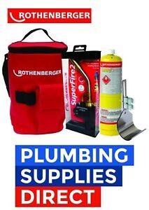 Rothenberger Hot Bag Superfire 2 Torch Mapp Gas & Heat Guard - Plumbers Kit