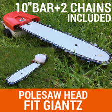 "Chainsaw Attachment W/10"" Bar+2chain For Pole Chain Saw Pruner Fit Giantz"