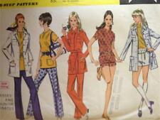 McCalls Sewing Pattern 2242 Misses Coat Top Shorts Pants Size 10 UC Vintage