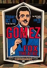 GOMEZ – Fox Theater BOULDER, CO - OCT. 4th, 2002 - CRYPTOGRAPHICS Poster #7/50