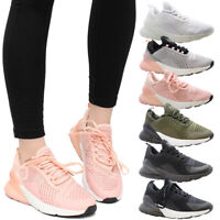 Ladies Air Shock Women Absorbing Gym Fitness Jogging Running Trainers Shoes Size