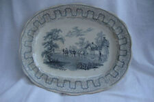 Ironstone British Date-Lined Ceramic Platters