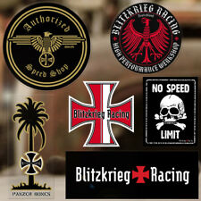 """Blitzkrieg Racing No Speed limit sticker decal aircooled skull dragracing 4/"""""""