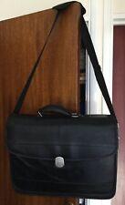 Sony Black Leather Laptop/Computer Bag With Shoulder Strap