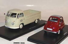 "Schuco 450896300 - VW T1b Camion à Benne avec BMW Isetta Standard "" Garage Jacob"
