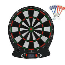 Electronic Soft Tip Dartboard Set Target Score Game Room With Safety 6 Darts