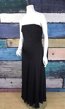 Lauren Ralph Lauren Black Ruched Strapless 100% Silk Evening Formal Prom Dress 4