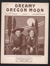 """Dreamy Oregon Moon 1931 Andy and Virginia in """"The Westerners"""" Sheet Music"""