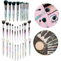 Crystal Makeup Brushes10pcs Powder Eyeshadow Colorful Beauty Cosmetic Brushes