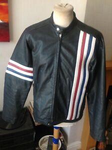 """Vintage Leather Cafe Racer Biker Jacket c40"""""""