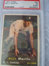 1957 Topps Card# 62 New York Yankees Billy Martin 2nd Base PSA 5 (MK) #26099522