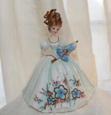 "Vintage Josef Originals Love Makes The World Go Round Lady Parasol 9"" Figurine"