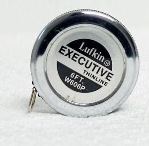 Lufkin Pocket Tape Measure Executive Diameter Metal Chrome Tool 1/4 Inch x 6 Ft