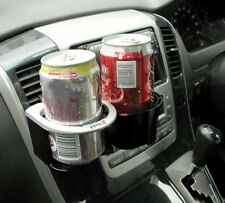 TYPE S CAR VAN INTERIOR TWIN COMBO DRINK CUP CAN HOLDER SILVER CLIPS ONTO VENT