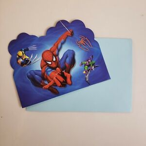 Spider-Man Postcard Invitations Birthday Party Supplies Value Pack 10 Sets