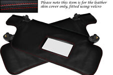 RED STITCHING FITS NISSAN S14 200SX 1994-1999 2X SUN VISORS LEATHER COVERS ONLY