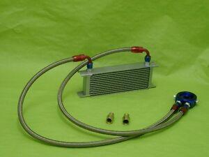 Burstflow Universal Nachrüstsatz Kit Ölkühler 13 Reihen AN10 passend für AUDI VW