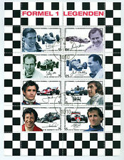 Austria  Formula 1 legends minisheet used