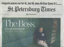 STEINBRENNER HEADLINES ST PETERSBURG TIMES NEWSPAPAER